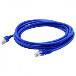 AddOn - ADD-60FCAT6ASTP-BLUE - AddOn 60ft RJ-45 (Male) to RJ-45 (Male) Blue Cat6A STP PVC Copper Patch Cable - 100% compatible and guaranteed to work