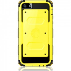 I-Blason - 5C-ARMOR-YELLOW - i-Blason Armorbox Dual Layer Hybrid Protective Case for iPhone 5C - iPhone 5c - Yellow - Dotted-Pattern - Thermoplastic Polyurethane (TPU), Polycarbonate