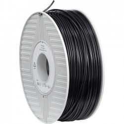 Verbatim / Smartdisk - 55008 - Verbatim ABS Filament 3mm 1kg Reel - Black - Black - 0.12 Filament - 2.83 Spool Diameter