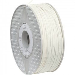 Verbatim / Smartdisk - 55007 - Verbatim ABS Filament 3mm 1kg Reel - White - White - 0.12 Filament - 2.83 Spool Diameter