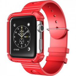 I-Blason - APPLEWATCH-42-RG-RD - i-Blason Carrying Case (Wristband) for SmartWatch - Red - Shock Proof, Impact Resistant - Polycarbonate