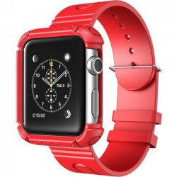 I-Blason - APPLEWATCH-38-RG-RD - i-Blason Carrying Case (Wristband) for SmartWatch - Red - Shock Proof, Impact Resistant - Polycarbonate