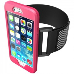 I-Blason - 790304517938 - SUP Carrying Case (Armband) for iPhone - Pink - Silicone - Armband