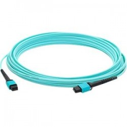 AddOn - ADD-MPOMPO-30M5OM4SM - AddOn 30m MPO (Male) to MPO (Male) 12-strand Aqua OM4 Straight Fiber OFNR (Riser-Rated) Patch Cable - 100% compatible and guaranteed to work