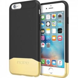 Incipio - IPH-1346-BKGD - Incipio Edge Chrome Hard Shell Slider Case with Chrome Finish for iPhone 6s - iPhone 6S - Black, Gold - Chrome - Polycarbonate