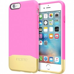 Incipio - IPH-1346-HPKGD - Incipio Edge Chrome Hard Shell Slider Case with Chrome Finish for iPhone 6s - iPhone 6S - Highlighter Pink, Gold - Chrome - Polycarbonate