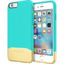 Incipio - IPH-1346-TEALGLD - Incipio Edge Chrome Hard Shell Slider Case with Chrome Finish for iPhone 6s - iPhone 6S - Teal, Gold - Chrome - Polycarbonate