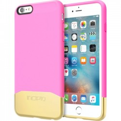 Incipio - IPH-1380-HPKGD - Incipio Edge Chrome Hard Shell Slider Case with Chrome Finish for iPhone 6s Plus - iPhone 6S Plus - Highlighter Pink, Gold - Chrome - Polycarbonate