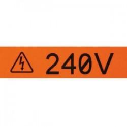 Panduit - T050X000VXC-BK - Panduit Label Tape - 1/2 Width x 25 ft Length - Rectangle - 1/2 Core - Yellow - Vinyl - 1