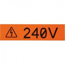Panduit - T075X000VPC-BK - Panduit Label Tape - 3/4 Width x 25 ft Length - White - Vinyl - 1 Pack