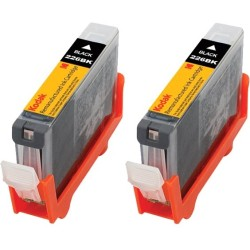 eReplacements - 4530B007-KD - eReplacements Remanufactured Ink Cartridge - Alternative for Canon (4530B001, 4530B007, 4530B007-KD, PGI-225BK) - Black - Inkjet - High Yield - 2 Pack