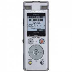 Olympus - V414111SU000 - Olympus DM-720 4GB Digital Voice Recorder - 4 GBmicroSD Supported - MP3 - Headphone - 985 HourspeaceRecording Time - Portable