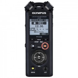 Olympus - V414151BU000 - Olympus LS-P2 8GB Digital Voice Recorder with 3.5mm Headphone Jack - 8 GBmicroSD SupportedLCD - MP3 - Headphone - 253 HourspeaceRecording Time - Portable