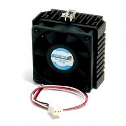 StarTech - FAN370PRO - StarTech.com 65x60x45mm Socket 7/370 CPU Cooler Fan w/ Heatsink & TX3 connector - Processor cooler - ( Socket 370, Socket 7 ) - 58mm - 4000rpm