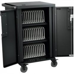 Bretford - TCOREX36 - Bretford CoreX Cart - 3 Shelf - Steel - 33.2 Width x 25.8 Depth x 44.5 Height - For 36 Devices