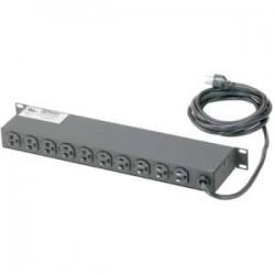 Panduit - CMRPSH15S - Panduit CMRPSH15S 10-Outlet Power Strip - NEMA 5-15P - 10 x NEMA 5-15R - 10 ft Cord - 15 A Current - 120 V AC Voltage - Rack-mountable