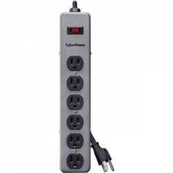 CyberPower - B603MGY - CyberPower B603MGY Metal Surge Protector - 6 x NEMA 5-15R - 900 J - 125 V AC Input