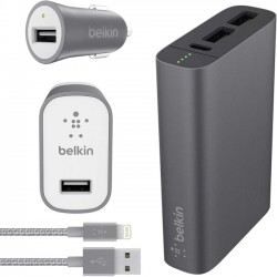 Belkin / Linksys - F5Z0642DQGRYAPL - Belkin MIXIT Metallic Colormatch Charge Kit + Cable
