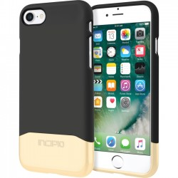Incipio - IPH-1475-BGD - Incipio Edge Chrome Two Piece Slider Case for iPhone 7 - iPhone 7 - Black, Gold - Polycarbonate