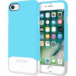 Incipio - IPH-1475-SBS - Incipio Edge Chrome Two Piece Slider Case for iPhone 7 - iPhone 7 - Sky Blue, Silver - Polycarbonate