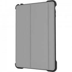Incipio - IPD-335-GRY - Incipio tek-nical Carrying Case (Folio) for iPad Air - Gray - Scratch Resistant, Dent Resistant - Microsuede, Plextonium