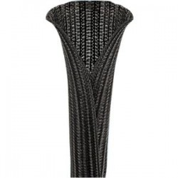 Panduit - SE50PS-CLR0 - Panduit Pan-Wrap SE50PS-CLR0 Cable Sleeve - Cable Sleeve - Black - 0.50 Internal Diameter - Polyethylene Terephthalate (PET)