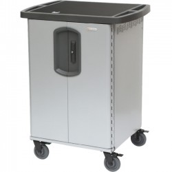 Bretford - HKPZ2BG1 - Bretford PowerSync MiX Cart - 2 Shelf - 4 Casters - 33.5 Width x 26 Depth x 44.5 Height - Platinum - For 30 Devices