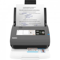 Ambir Technology - DS820ix-NP - Ambir ImageScan Pro 820ix Sheetfed Scanner - 600 dpi Optical - 48-bit Color - 16-bit Grayscale - 20 ppm (Mono) - 20 ppm (Color) - Duplex Scanning - USB