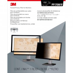 3M - PF170W1F - 3M Framed Privacy Filter for 17 Widescreen Monitor (16:10) - For 17LCD Monitor