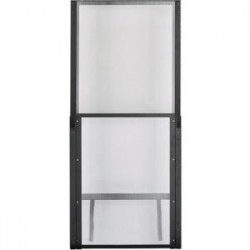 Panduit - C2HAC08I3866B1 - Panduit Net-Contain C2HAC08I3866B1 Aisle Containment Vertical Wall - for Universal Aisle Containment System - Black - Steel, Polycarbonate