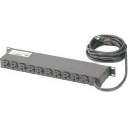 Panduit - CMRPSH20STL - Panduit 10 Outlets PDU - Basic - NEMA L5-20P - 10 x NEMA 5-20R - 120 V AC - 1900 W - 1U - Horizontal