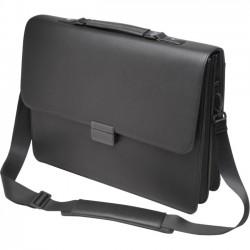 Kensington - K62849WW - Kensington K62849WW Carrying Case (Briefcase) for 15.6 Notebook - Black - Metal Buckle, Faux Leather Buckle - Handle, Shoulder Strap