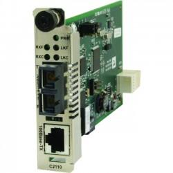 Transition Networks - C2110-1029-A1 - Transition Networks C2110 Transceiver/Media Converter - 1 x Network (RJ-45) - 1 x SC Ports - Single-mode - Fast Ethernet - 100Base-TX, 100Base-FX