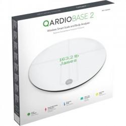 Qardio - B200-IAW - Qardio Qardiobase 2 Wireless Smart Scale and Body Analyzer - 396 lb / 180 kg Maximum Weight Capacity - Arctic White