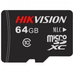 Hikvision - DS-UTF64GI-H1 - Hikvision 64 GB microSDHC - Class 10 - 25 MB/s Read - 20 MB/s Write