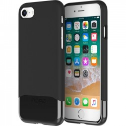 Incipio - IPH-1683-BLK - Incipio Edge Chrome Two Piece Slider Case for iPhone 8 Plus - iPhone 8 Plus - Black - Polycarbonate, Plextonium