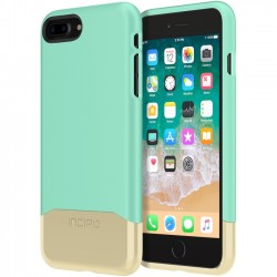 Incipio - IPH-1683-TGD - Incipio Edge Chrome Two Piece Slider Case for iPhone 8 Plus - iPhone 8 Plus - Teal, Gold - Polycarbonate - 36 Drop Height