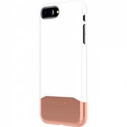 Incipio - IPH-1683-WTR - Incipio Edge Chrome Two Piece Slider Case for iPhone 8 Plus - iPhone 8 Plus - Gloss White, Rose Gold - Polycarbonate - 36 Drop Height