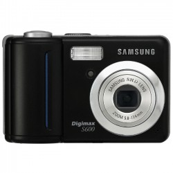 Samsung - 132011 - Samsung Digimax S600 6 Megapixel Compact Camera - Black - 2.4 LCD - 3x Optical Zoom - 5x - 2816 x 2112 Image - 640 x 480 Video - PictBridge