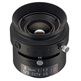 Tamron - 13FM08IR - Tamron 13FM08IR Manual Iris Fixed Focus Lens - 8mm - f/1.2