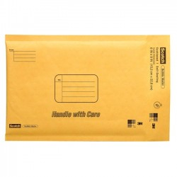 "3M - 7914 - 3M Scotch Cushioned Mailers - Bubble - 8.50"" Width x 11"" Length - Self-sealing - 1 Each - Tan"
