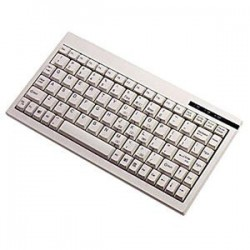 Adesso / ADS Technologies - ACK-595PW - Adesso Mini Keyboard - PS/2 - 88 Keys