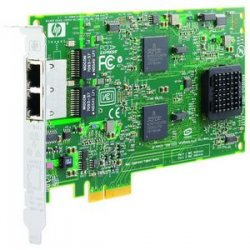 Hewlett Packard (HP) - 394795-B21 - HP-IMSourcing DS NC380T Dual Port Multifunction Gigabit Server Adapter - PCI Express x4 - 2 Port(s) - 2 x Network (RJ-45)