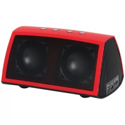 Rosewill - AMPBOX-Red - Rosewill R-Studio Ampbox Speaker System - Wireless Speaker(s) - Portable - Battery Rechargeable - Red - 80 Hz - 20 kHz - 30 ft - Bluetooth - USB - iPod Supported