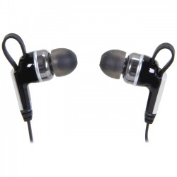 Rosewill - E-860 - Rosewill R-Studio E-860 Earphone - Stereo - Black, Silver - Mini-phone - Wired - 18 Ohm - 12 Hz 22 kHz - Gold Plated - Earbud - Binaural - In-ear - 4 ft Cable
