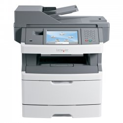 "Lexmark - 13C0078 - Lexmark X460 X466DE Laser Multifunction Printer - Monochrome - Plain Paper Print - Desktop - Copier/Fax/Printer/Scanner - 40 ppm Mono Print - 1200 x 1200 dpi Print - Automatic Duplex Print - 40 cpm Mono Copy - 7"" LCD Touchscreen - 600"