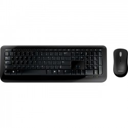 Microsoft - 2LF-00002 - Microsoft Wireless Desktop 800 Keyboard and Mouse - USB Wireless RF Keyboard - English - USB Wireless RF Mouse - Optical - 1000 dpi - Scroll Wheel - Symmetrical (PC)