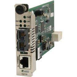 Transition Networks - C2110-1019 - Transition Networks C2110-1019 Media Converter - 1 x Network (RJ-45) - 1 x LC Ports - 10/100Base-TX, 100Base-FX - Internal
