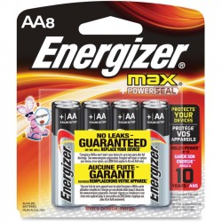 Energizer - E91BP-8 - Energizer Multipurpose Battery - AA - Alkaline - 1.5 V DC - 8 / Pack