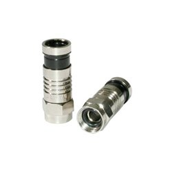 C2G (Cables To Go) - 41074 - C2G RG6 Compression F-Type Connector with O-Ring - 10pk - F Connector
